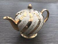 Burslem Ellgreave Cream & Gold Vintage Teapot