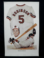 Brooks Robinson Baltimore Orioles Signed MLB Baseball L/E Lithograph JSA