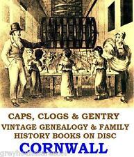 Cornwall Cornish Genealogy Parish Registers Topo 38 Vintage Books on a Data Disc