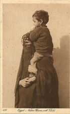 POST CARD AFRICA EGYPT EGYPTE NATIVE WOMAN WITH CHILD
