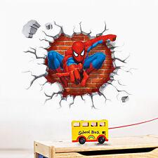 Spider-man 3D Wall Sticker Decal Kids Boys Wallpaper Decor for room Peel n Stick