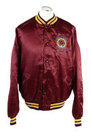 Vintage King Louie Baseball College Satin Bomber Jacket  2XL Bordeaux - C1761
