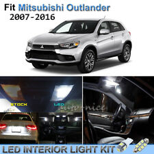 10pc Bright White Interior LED Lights Package Kit For 07-16 Mitsubishi Outlander