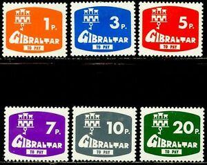 Gibraltar 1976 - Postage Dues - Complete Set of 6 - MNH