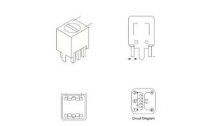 42IF123-RC (10 Piece Lot) Signal Transformer