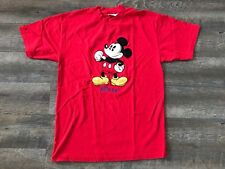 Vintage Mickey Mouse Shirt The Disney Store Size Large 100% Cotton