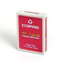 Poker et cartes à jouer rouges en plastique