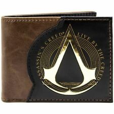 Official Assassins Creed Live By The Creed Brown Id & Card Wallet *SECOND*
