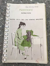 Vintage Kenmore Sears Sewing Machine Booklet Manual Model 1914 Zigzag Used