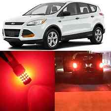 Alla Lighting Brake Tail Light 3157K 4157K Pure Red SMD LED Bulb for Ford Escape