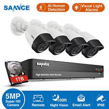SANNCE 5MP Lite 8CH 5IN1 DVR HD 1080P CCTV Camera AI Human Remote Security Kit