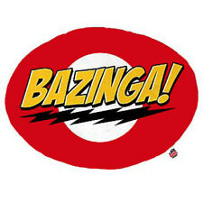 Big Bang Theory Bazinga Red Yellow Plush Throw Cushion Pillow Sheldon Geek Nerd