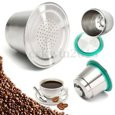 Acier inoxydable Réutilisables Café Capsule Dosettes Pr Nespresso Café Machine