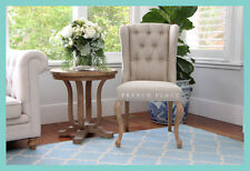 *IN STOCK* NEW French Provincial / Hamptons Style Oak and Linen Dining chair