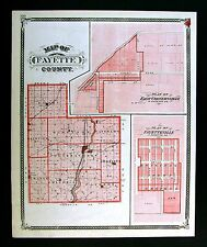 1876 Indiana County Map - Fayette - Connersville Alquina Bentonville Glenwood IN