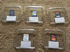 Lot of 5, Mixed Brand 2GB SD Memory Card USED Wii/Dsi