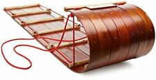 Wooden Toboggan Plans DIY Snow Traditional Sled Downhill Sledding Winter Sports