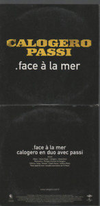 Calogero Face A La Mer Cd Promo Passi