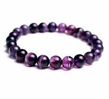 Crystal Beads Bracelet Aaa 8.2mm Natural Purple Fluorite Quartz