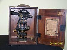 Vintage C.L.Berger & Sons Surveying Transit Instrument of Precision-Works!