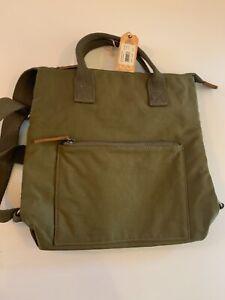 ORIGINAL Fat Face Khaki Canvas Rucksack Satchel Bag Designer,Brand New!!Great!!