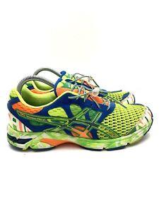 Asics Gel Noosa Tri 7 Running Shoes Neon Green Multicolor T214N Men's Size 8.5