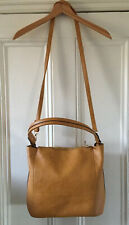 Oasis Women's Caramel Brown Faux Leather 2-in-1 Clutch Handbag Shoulder Bag NEW
