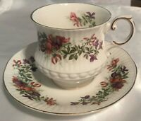 "Vintage Queen's Rosina Fine Bone China Cup & Saucer Set  England  ""Wild Flowers"""