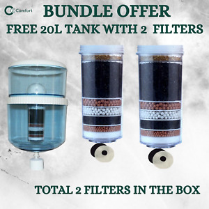 Free 20L Water Dispenser Purifier Bottle With 2 x 8 StageWater Filter Cartridge
