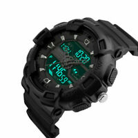 SKMEI Men's Sport Military Dual Time Shock LED Digital Analog Quartz Wrist Watch