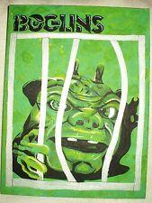 Canvas Painting Boglin Dwork Caged Green Art 16x12 inch Acrylic