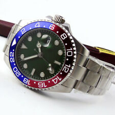 43mm Sterile Green Sterile Dial GMT Date Sapphire Automatic Movement men's Watch