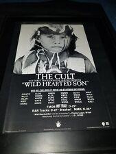 The Cult Wild Hearted Son Rare Original Radio Promo Poster Ad Framed!