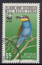 Österreich 1918 WWF Bienenfresser  (Merops apiaster) WWF-Emblem - 1988 gestemp.