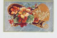 PPC POSTCARD MY TRUE VALENTINE FLOWERS HEART ARTHUR CAPPER PUBLISHER