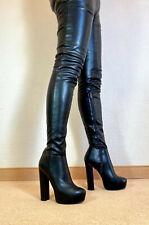 High Heels Plateau Stretch Stiefel Damen Männer Boots EU42 UK8 US11 15/4cm Heels