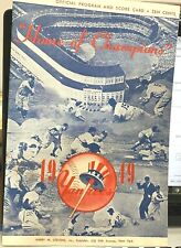 nr- mt 1949 Yankee baseball program