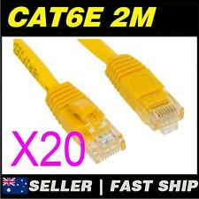 20x 2m 6.5ft Premium Cat6 Yellow Ethernet Network LAN Patch Cable Lead