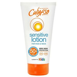 Calypso Sensitive Lotion For Face & Neck | SPF50+ | Suitable for Kids | 50ml