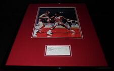 Julius Erving Dr J Signed Framed 16x20 Photo Display JSA Nets