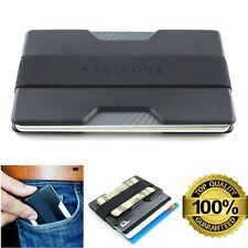 Men Slim Front Pocket Wallet Black Thin RFID Block Credit Card Holder Money Clip