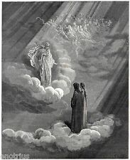 PARADISO: DANTE, BEATRICE E CACCIAGUIDA. Di Gustave Doré. Divina Commedia. 1890