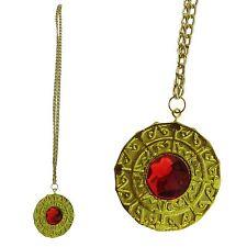 Grand collier médaillon or années 70 rétro Pimp Gangster Elvis Déguisement Bijoux