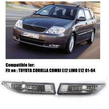 For TOYOTA COROLLA KOMBI LIMO Front Bumper Clear Lens Fog Lights Driving Lamps