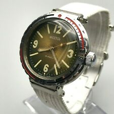 VOSTOK Rare Lugs Retro Early AMPHIBIAN Eared Diver USSR Wristwatch Men SERVICED
