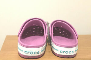 BRAND NEW WOMEN'S BAYABAND CROCS PURPLE CLOGS  - SIZE 7