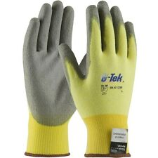 KEVLAR CUT RESISTANT WORK GLOVES W/ PU COATING SIZE MED 1 PAIR made with kevlar