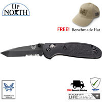Benchmade 557SBK-S30V Mini Griptilian Knife Black Serrated TANTO S30V Blade