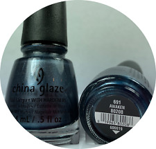 China Glaze Nail Polish * Awaken 691 ROMANTIQUE Dark Shimmery Gray Lacquer