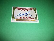 SIGNATURE CARD SIGNED BY CUBS TREY MCNUTT #71